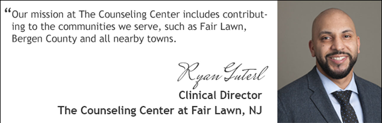 welcome statement from Fair Lawn, NJ counseling center